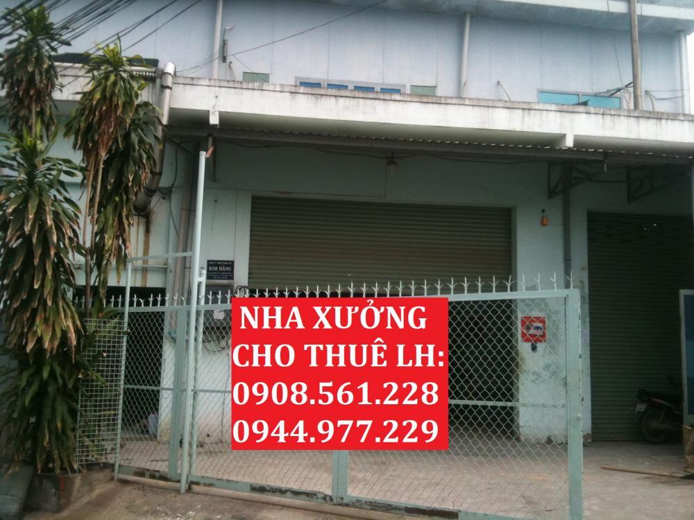 Cho thuê nhà xưởng năm trên đường Trân Văn Ơn - Quận Tân Phú